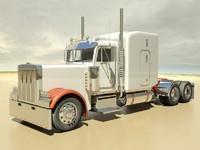 semi truck fbx