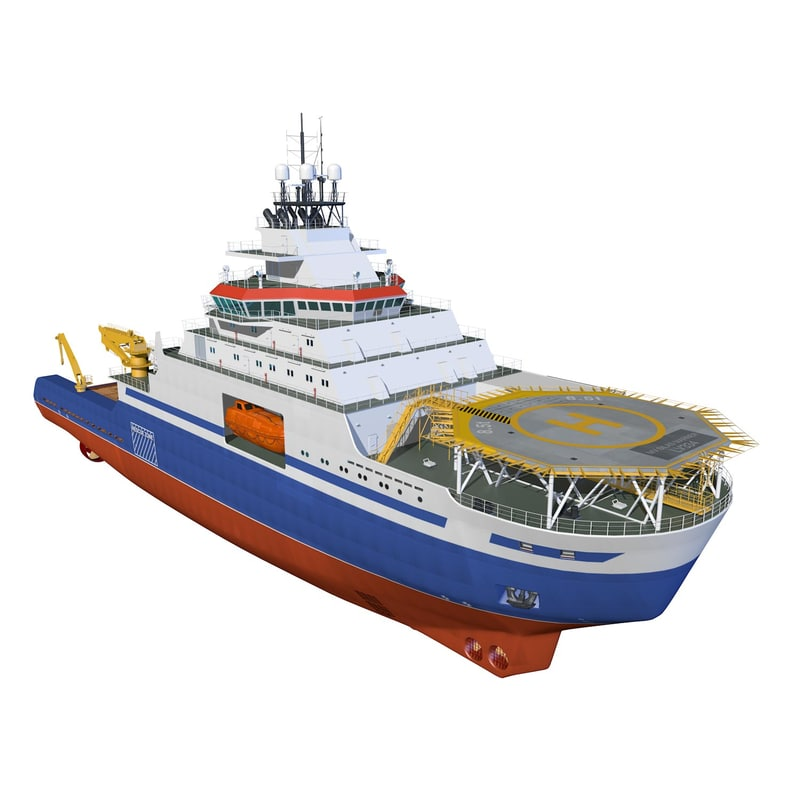 3d model polar icebreaker