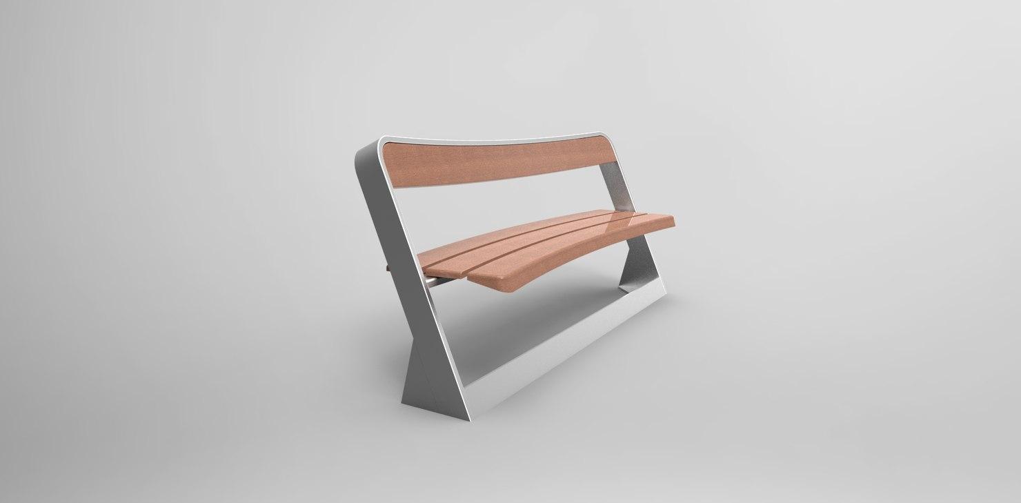 obj bench furniture urban