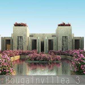 3 flower plant 3d model