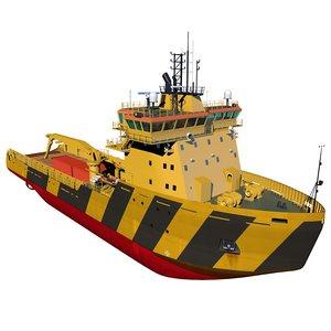 3d model of polar icebreaker