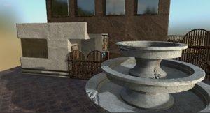 3d model modern pool house home