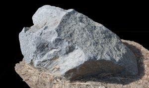 rock photorealistic 3d obj