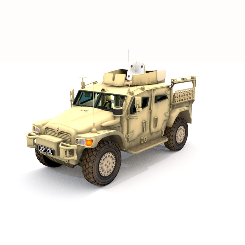 3d british army husky tsv model