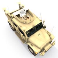 3d british army husky tsv model