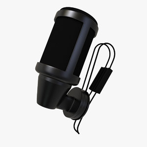 lavalier microphone 3d model
