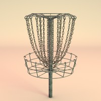3d disc golf basket