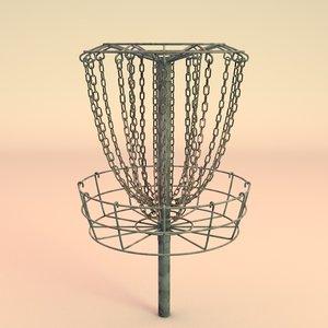 3d disc golf basket
