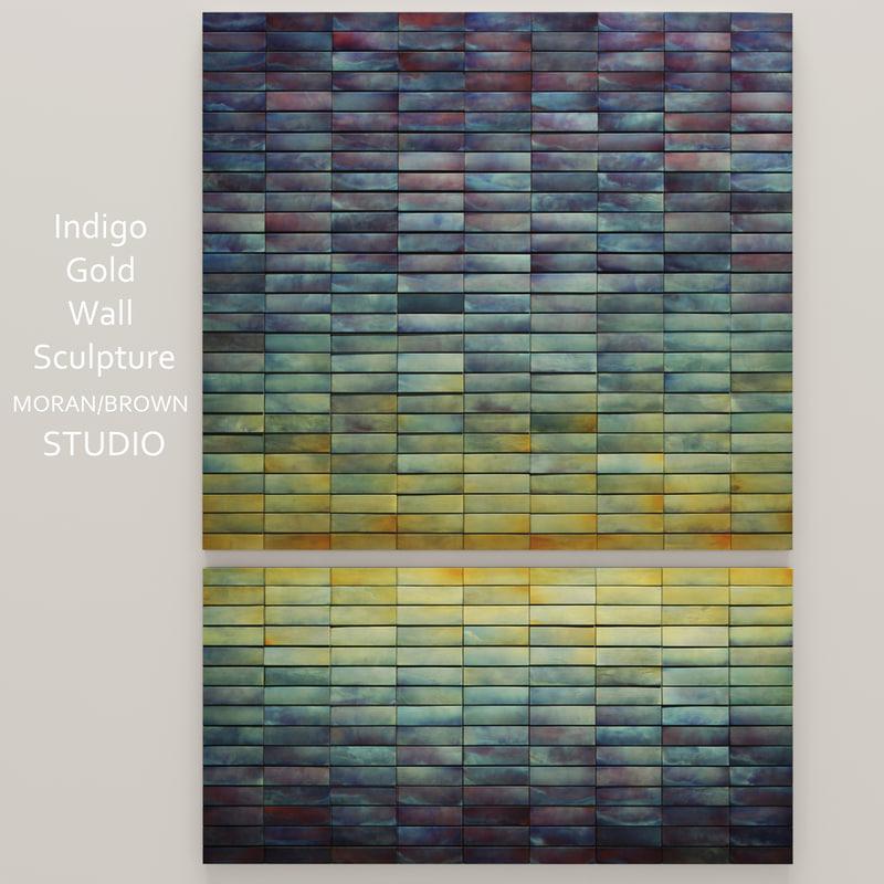 indigo gold wall 3d max