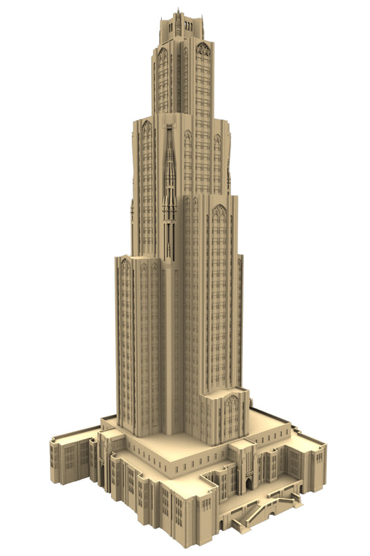3d model building skyscrapers
