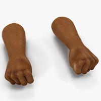 african man hands 3 3d max