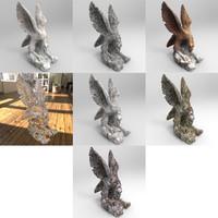 3d model statue eagle