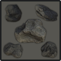 Low Poly Stone Set