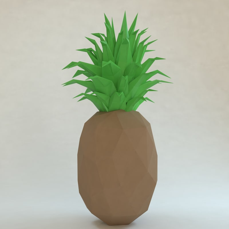 3d model pinapple