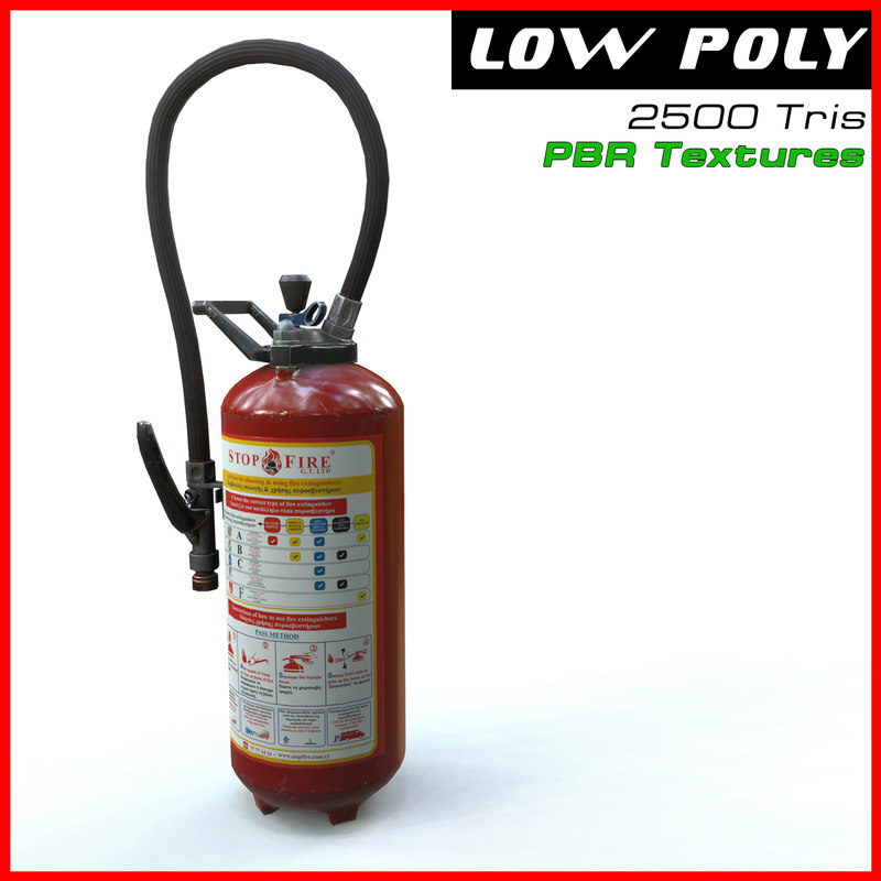 3d extinguisher ready games model