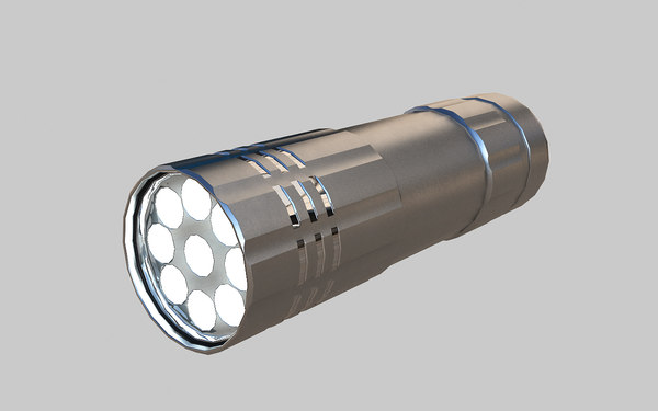 3d led flash light model