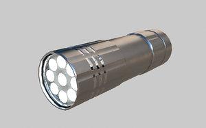 3d led flash light model