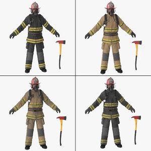 3d firefighter fighter