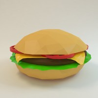 burger hamburger cheeseburger 3d model