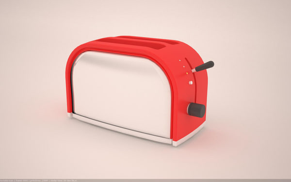 classic toaster 3d max
