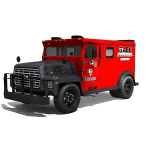3d armored cash truck model
