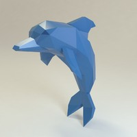 3d dolphin style model