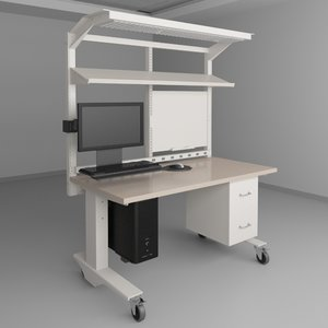 height adjustable workbench 3d max