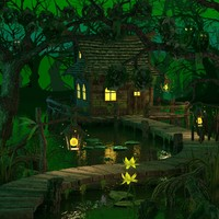 house swamp 3d 3ds