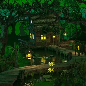 3d house swamp