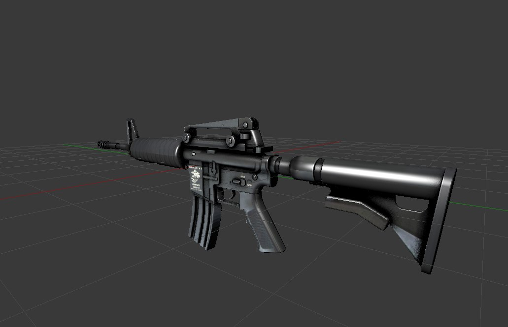 3d m4a1 fps model
