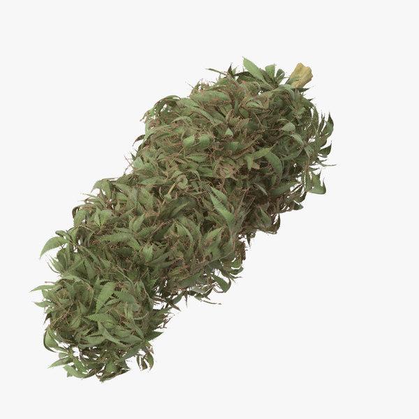 marijuana bud 01 03 3d model