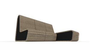 3d model gardening bench