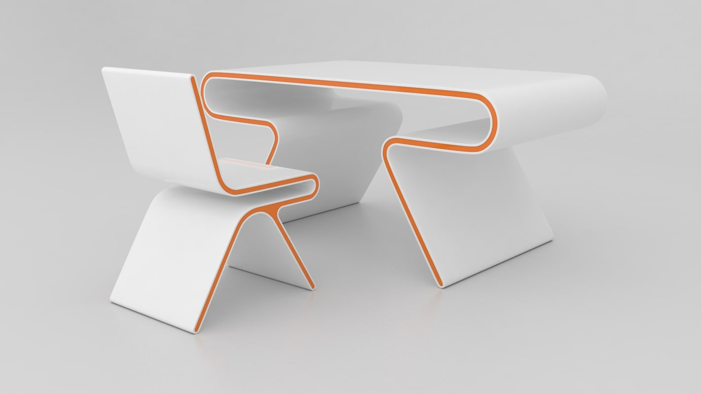 omega desk chair 3d model