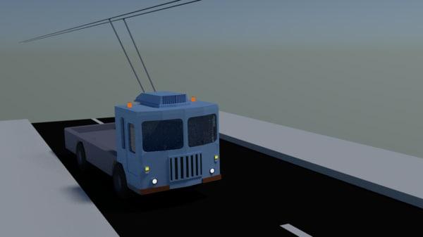 3d trolleybus