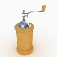 coffee grinder 3d obj