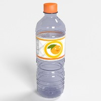 3d realistic water bottles plastic model
