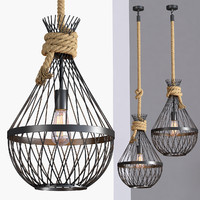 3d model loft industrial lamps 1