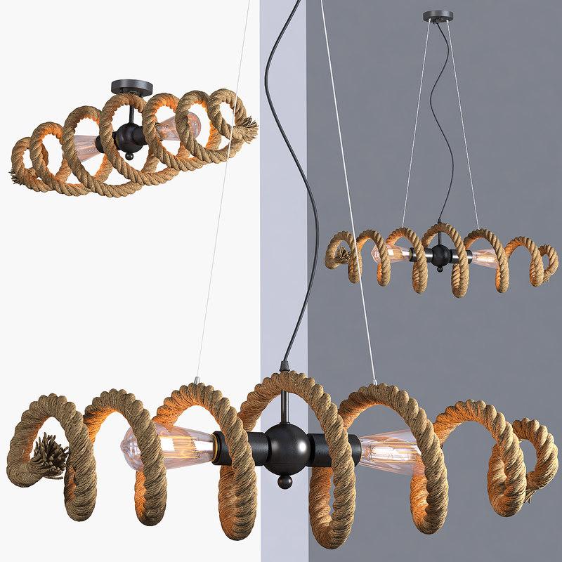 loft industrial lamps rope max