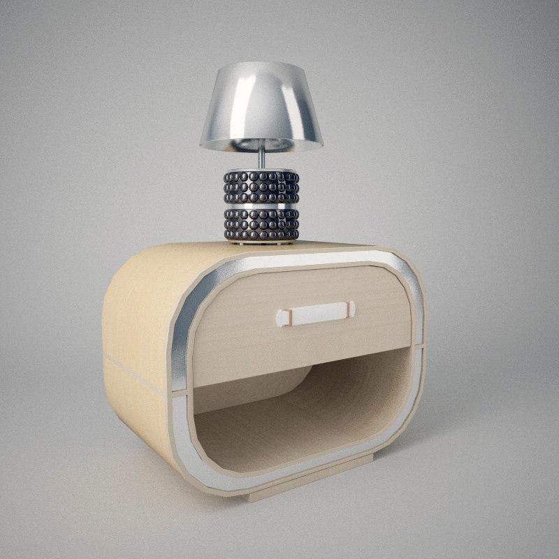 nella bedside table 3d model