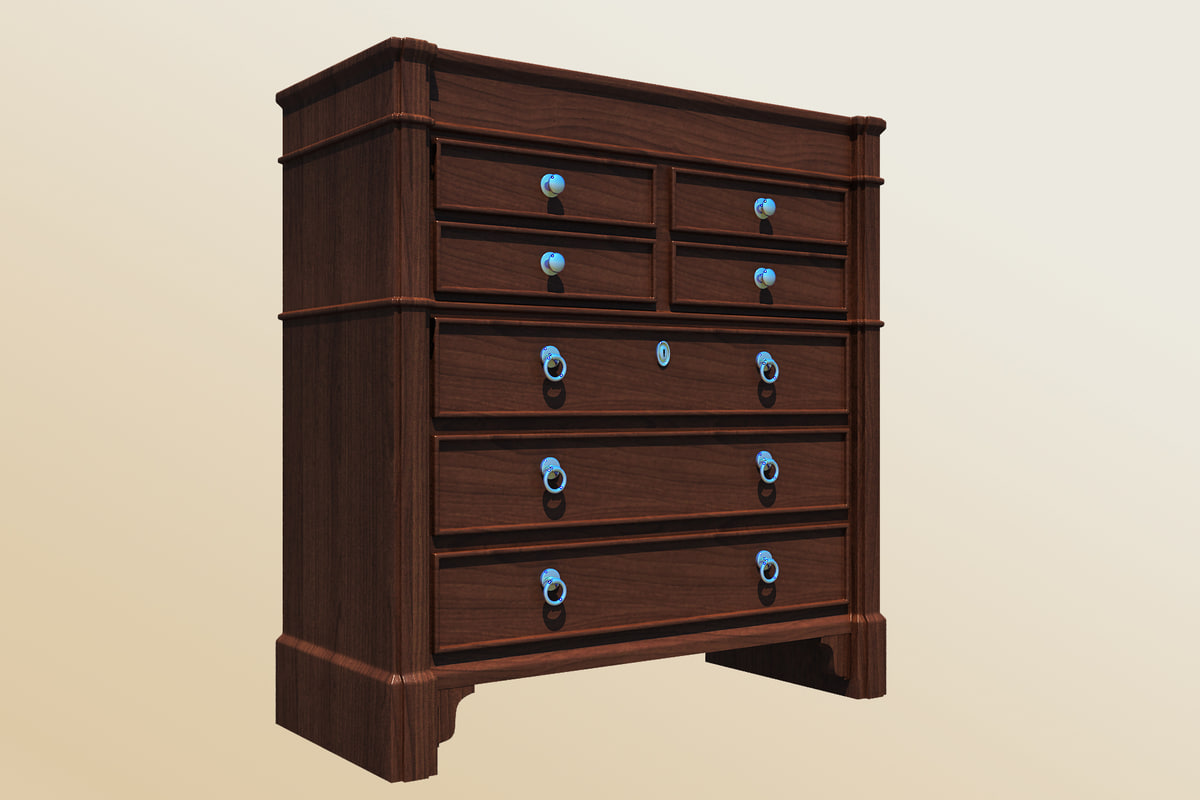 baker bachelor s chest 3d max