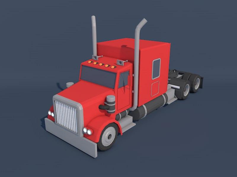 3d model american heavy truck