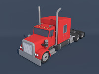 Low Poly American Heavy Truck