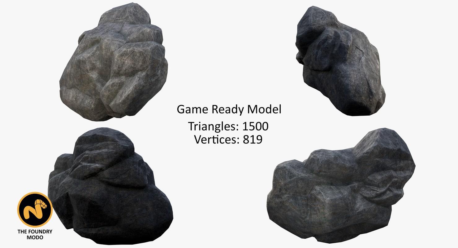 free zbrush rocks 3d model