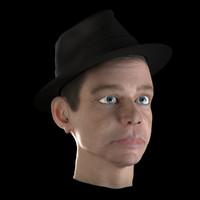 3d model of photo realistic head frank