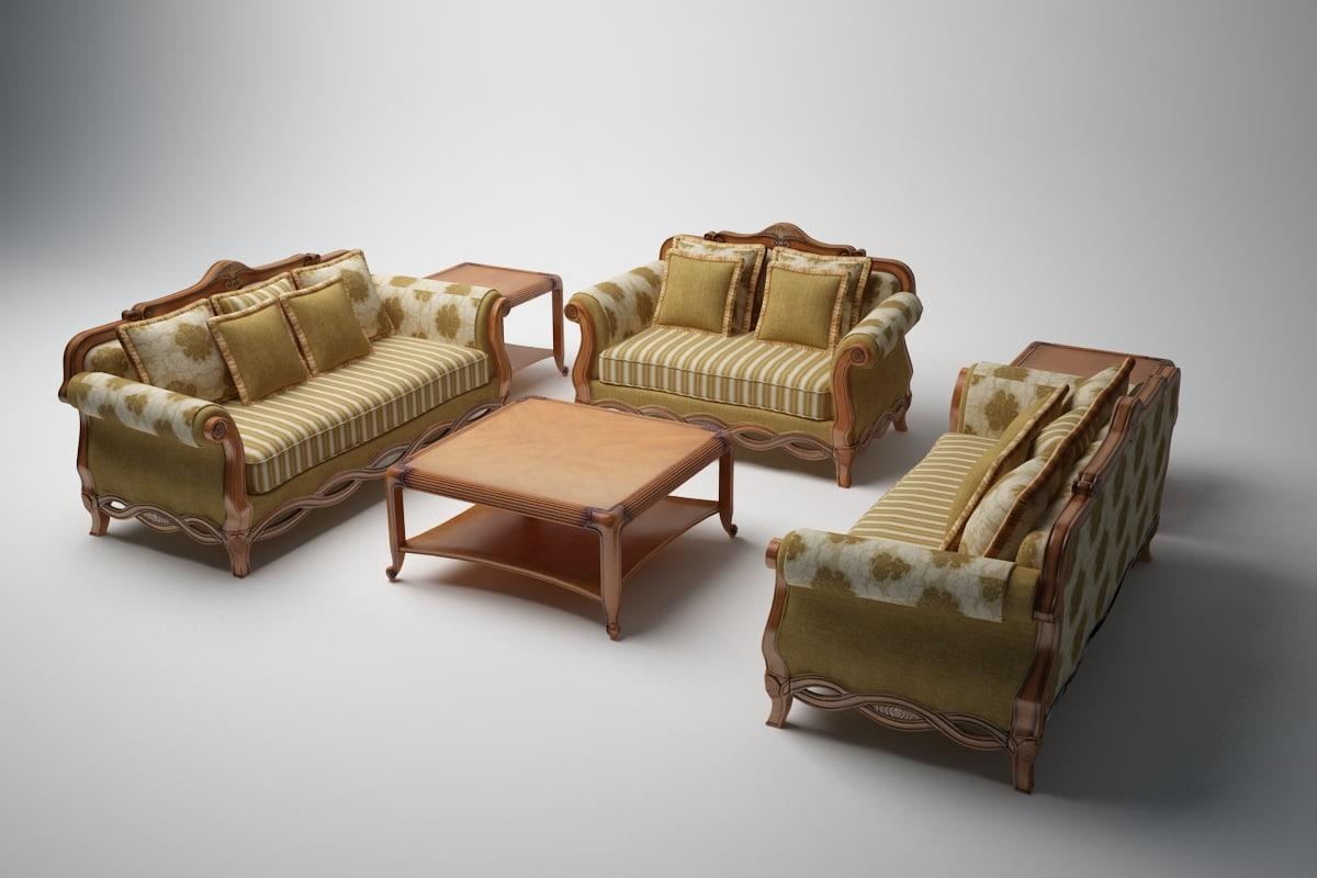 3d american tea table
