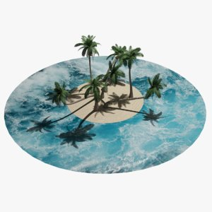 3d coconut tree model
