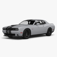 3d dodge challenger srt 392 model