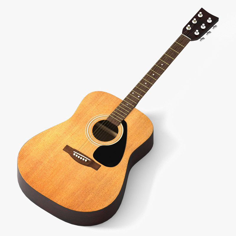 3d guitar folk model
