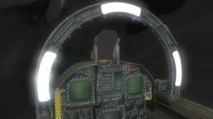 fighter jet cockpit 3d obj