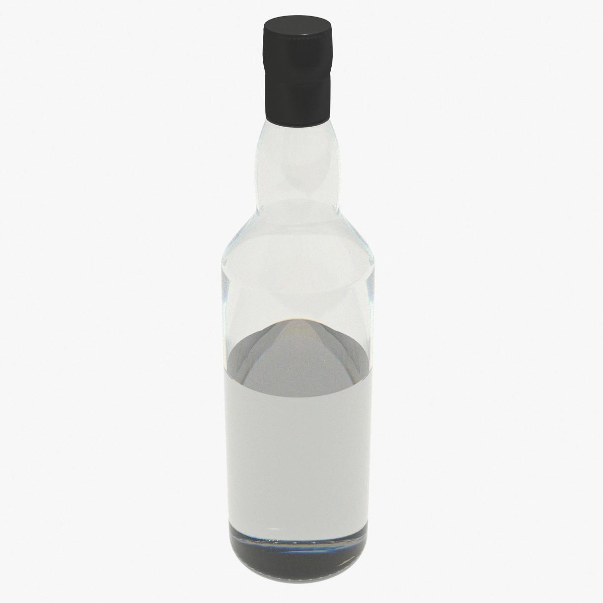 3d bottle liquid glass